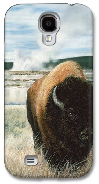 Bison Pastels Galaxy S4 Cases - Free to Roam Galaxy S4 Case by Karen Cade