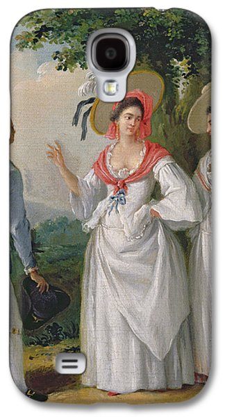 Slaves Galaxy S4 Cases - Free West Indian Creoles In Elegant Dress, C.1780 Oil On Canvas Galaxy S4 Case by Agostino Brunias