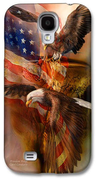 Eagle Mixed Media Galaxy S4 Cases - Freedom Ridge Galaxy S4 Case by Carol Cavalaris