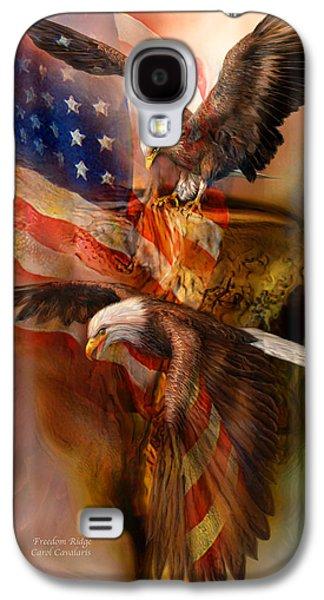 Eagle Mixed Media Galaxy S4 Cases - Freedom Ridge Galaxy S4 Case by Carol Cavalaris