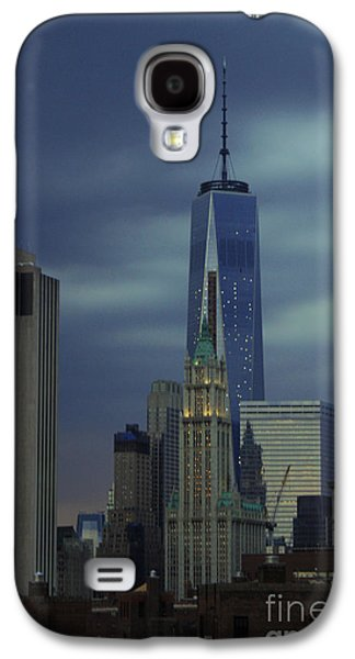 Landscapes Photographs Galaxy S4 Cases - Freedom Tower at Dusk Galaxy S4 Case by John Turner