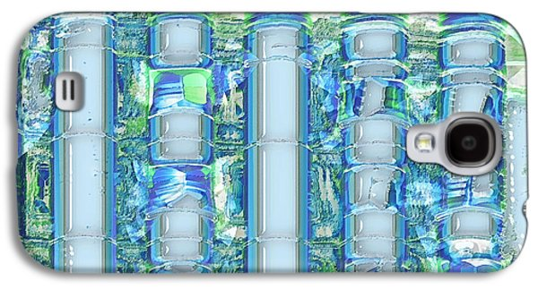 Abstract Digital Digital Art Galaxy S4 Cases - Freeze Warning Galaxy S4 Case by Wendy J St Christopher