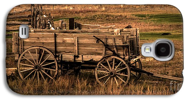 Recently Sold -  - Haybale Galaxy S4 Cases - Freight Wagon Galaxy S4 Case by Robert Bales