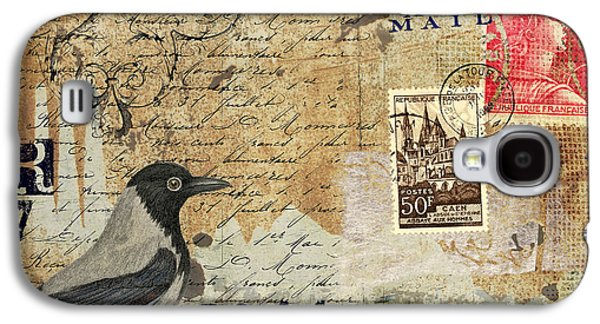 French Bird Postcard Galaxy S4 Case by Carol Leigh
