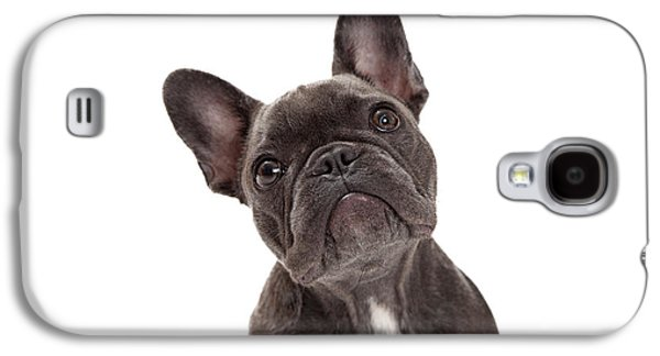 Cutouts Galaxy S4 Cases - French Bulldog Closeup Galaxy S4 Case by Susan  Schmitz