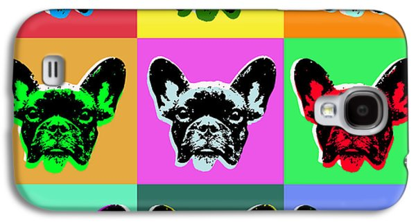 Puppies Digital Art Galaxy S4 Cases - French Bulldog Galaxy S4 Case by Jean luc Comperat