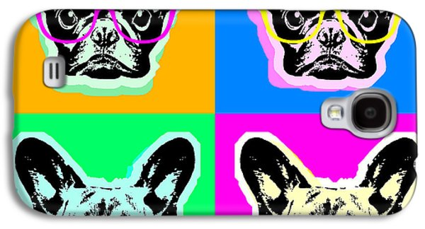 Recently Sold -  - Puppy Digital Galaxy S4 Cases - French Bulldog Pop Art Galaxy S4 Case by Steve Will