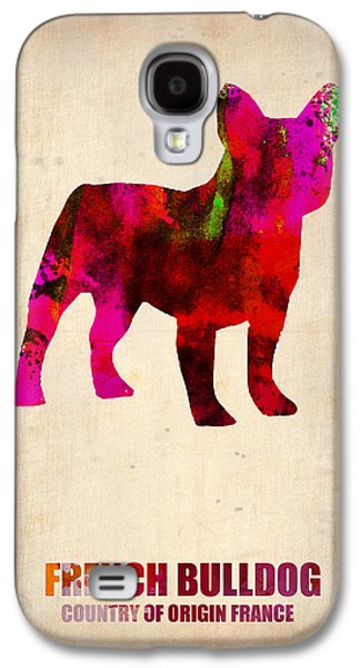 Pet Galaxy S4 Cases - French Bulldog Poster Galaxy S4 Case by Naxart Studio