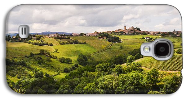 Oingt Photographs Galaxy S4 Cases - French Countryside Galaxy S4 Case by Allen Sheffield