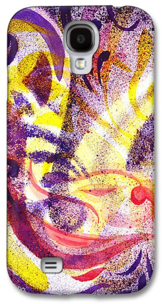 Abstract Movement Galaxy S4 Cases - French Curve Abstract Movement II Galaxy S4 Case by Irina Sztukowski