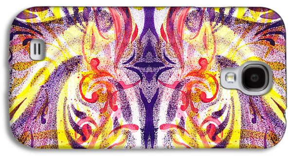 Abstract Movement Galaxy S4 Cases - French Curve Abstract Movement V Magic Butterfly  Galaxy S4 Case by Irina Sztukowski