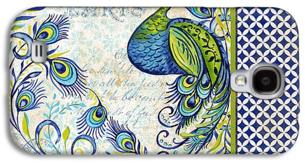 Nature Study Digital Art Galaxy S4 Cases - French Peacock-e Galaxy S4 Case by Jean Plout