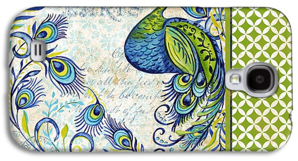 Nature Study Digital Art Galaxy S4 Cases - French Peacock-f Galaxy S4 Case by Jean Plout