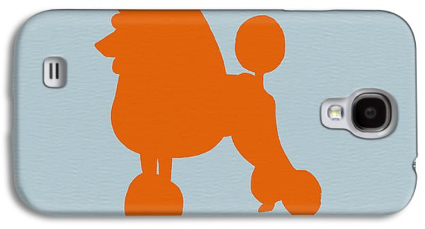 Poodle Galaxy S4 Cases - French Poodle Orange Galaxy S4 Case by Naxart Studio