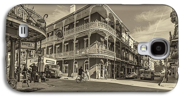 Architecture Metal Prints Galaxy S4 Cases - French Quarter Afternoon sepia Galaxy S4 Case by Steve Harrington