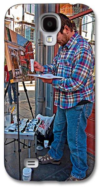 Painter Photo Photographs Galaxy S4 Cases - French Quarter Artist Galaxy S4 Case by Steve Harrington