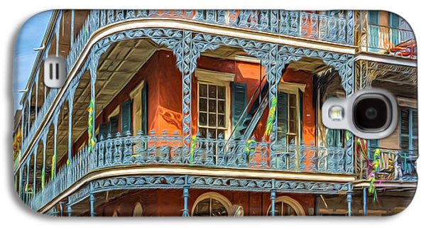 Architecture Metal Prints Galaxy S4 Cases - French Quarter Wandering - Paint Galaxy S4 Case by Steve Harrington