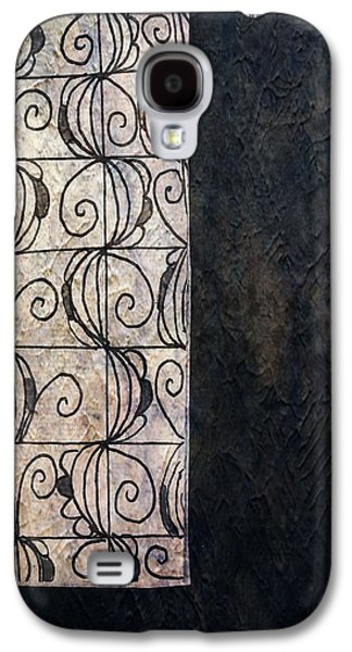 Abstract Collage Drawings Galaxy S4 Cases - French Windows Galaxy S4 Case by Victoria Fischer