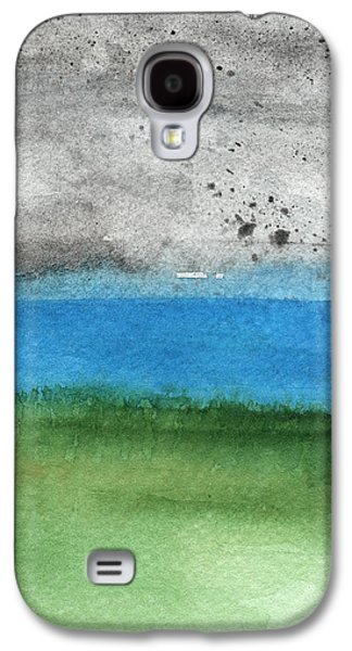 Landscapes Mixed Media Galaxy S4 Cases - Fresh Air- landscape painting Galaxy S4 Case by Linda Woods