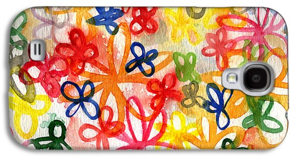 Studio Mixed Media Galaxy S4 Cases - Fresh Flowers Galaxy S4 Case by Linda Woods