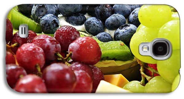 Platter Photographs Galaxy S4 Cases - Fresh Fruits and Cheese Galaxy S4 Case by Elena Elisseeva