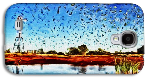 Group Of Birds Paintings Galaxy S4 Cases - Fresh Mill Galaxy S4 Case by Withintensity  Touch