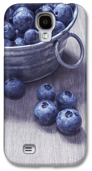 Studio Photographs Galaxy S4 Cases - Fresh picked blueberries with vintage feel Galaxy S4 Case by Edward Fielding