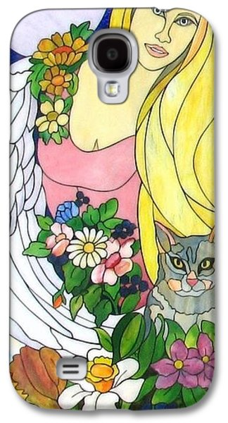 Print Glass Art Galaxy S4 Cases - Freya Galaxy S4 Case by Suzanne Tremblay