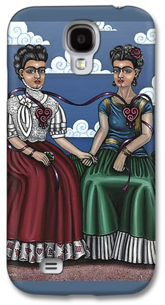 Diego Rivera Galaxy S4 Cases - Frida Beside Myself Galaxy S4 Case by Victoria De Almeida