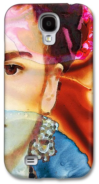Print Mixed Media Galaxy S4 Cases - Frida Kahlo Art - Seeing Color Galaxy S4 Case by Sharon Cummings