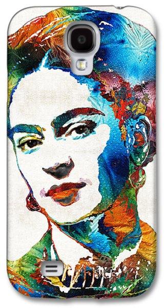 Ultra Modern Galaxy S4 Cases - Frida Kahlo Art - Viva La Frida - By Sharon Cummings Galaxy S4 Case by Sharon Cummings