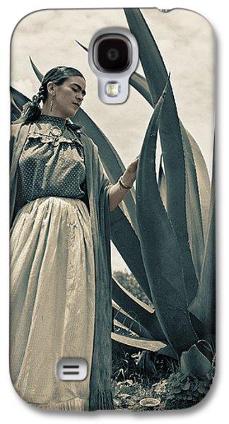 Painter Photo Photographs Galaxy S4 Cases - Frida Kahlo Galaxy S4 Case by Carlos Lazurtegui