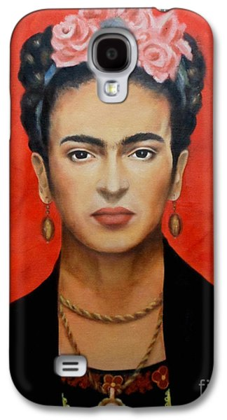 Faces Paintings Galaxy S4 Cases - Frida Kahlo Galaxy S4 Case by Elena Day