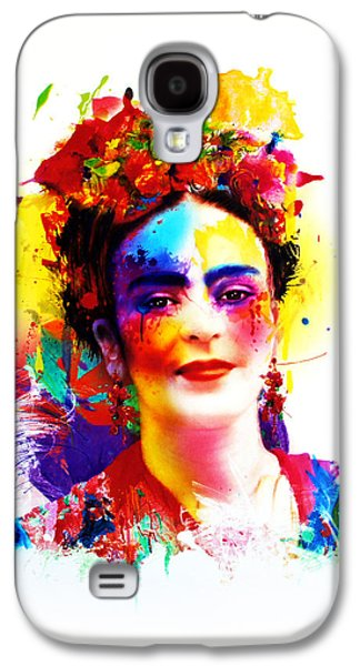 Diego Rivera Galaxy S4 Cases - Frida Kahlo Galaxy S4 Case by Isabel Salvador
