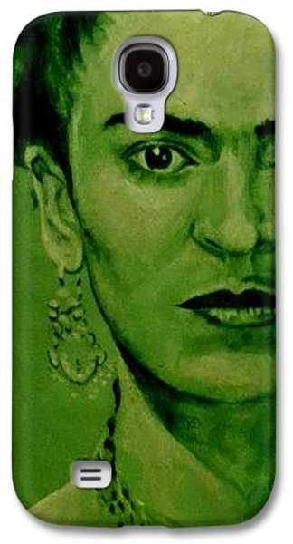 Diego Rivera Galaxy S4 Cases - Frida Kahlo - red bow Galaxy S4 Case by Richard Tito