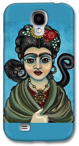 Diego Rivera Galaxy S4 Cases - Fridas Monkey Galaxy S4 Case by Victoria De Almeida