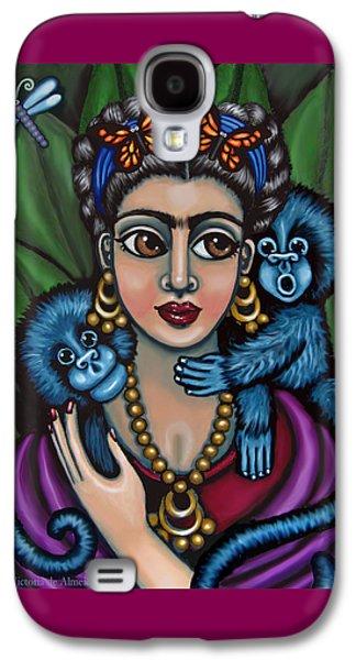 Diego Rivera Galaxy S4 Cases - Fridas Monkeys Galaxy S4 Case by Victoria De Almeida