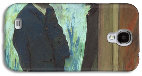 Impressionism Pastels Galaxy S4 Cases - Friends at the Theater Galaxy S4 Case by Edgar Degas