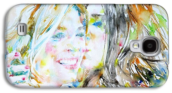 Lesbian Paintings Galaxy S4 Cases - Friends Galaxy S4 Case by Fabrizio Cassetta