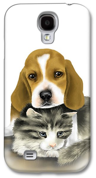 Dogs Digital Galaxy S4 Cases - Friends Galaxy S4 Case by Veronica Minozzi