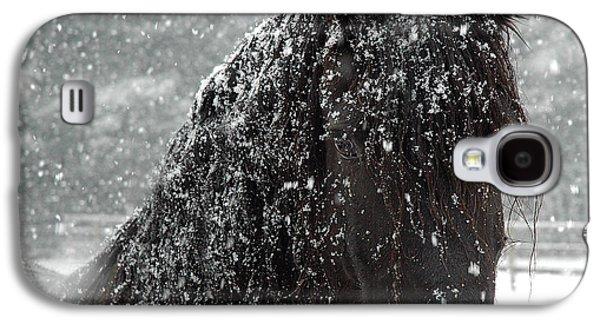 Printed Photographs Galaxy S4 Cases - Friesian Snow Galaxy S4 Case by Fran J Scott