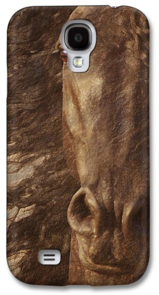 Horse Images Galaxy S4 Cases - Friesian Spirit Galaxy S4 Case by Melinda Hughes-Berland