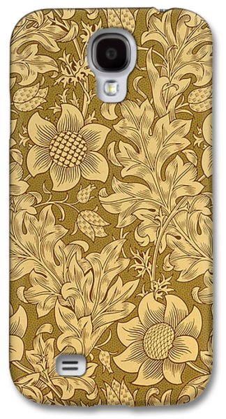 Print Tapestries - Textiles Galaxy S4 Cases - Fritillary wallpaper design Galaxy S4 Case by William Morris