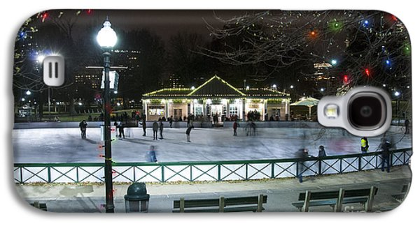Activity Photographs Galaxy S4 Cases - Frog Pond Ice Skating Rink in Boston Commons Galaxy S4 Case by Juli Scalzi
