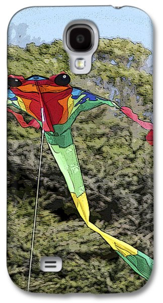 Flying Frog Galaxy S4 Cases - Froggy Kite Galaxy S4 Case by Joie Cameron-Brown
