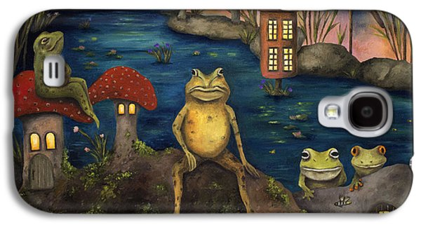 Moss Galaxy S4 Cases - Frogland Galaxy S4 Case by Leah Saulnier The Painting Maniac