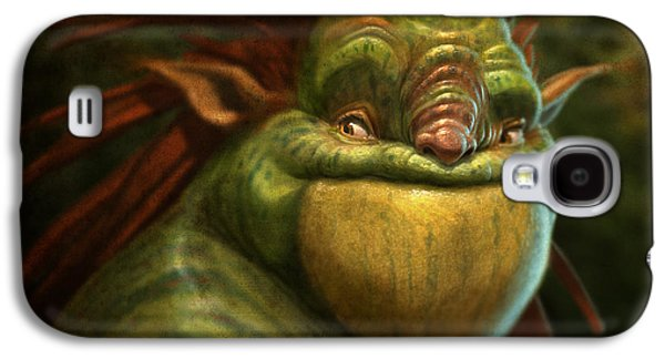 Tapestries Textiles Galaxy S4 Cases - Frogman Galaxy S4 Case by Aaron Blaise