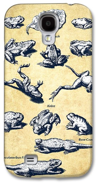 Frogs - Historiae Naturalis - 1657 - Vintage Galaxy S4 Case by Aged Pixel