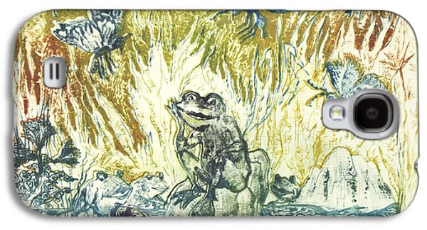 Drypoint Galaxy S4 Cases - Frogs Galaxy S4 Case by Milen Litchkov