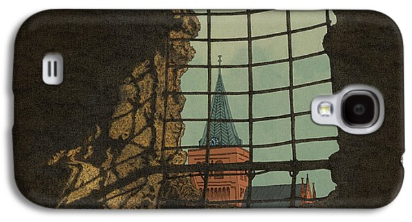 Fantasy Mixed Media Galaxy S4 Cases - From a Castle Galaxy S4 Case by Meg Shearer